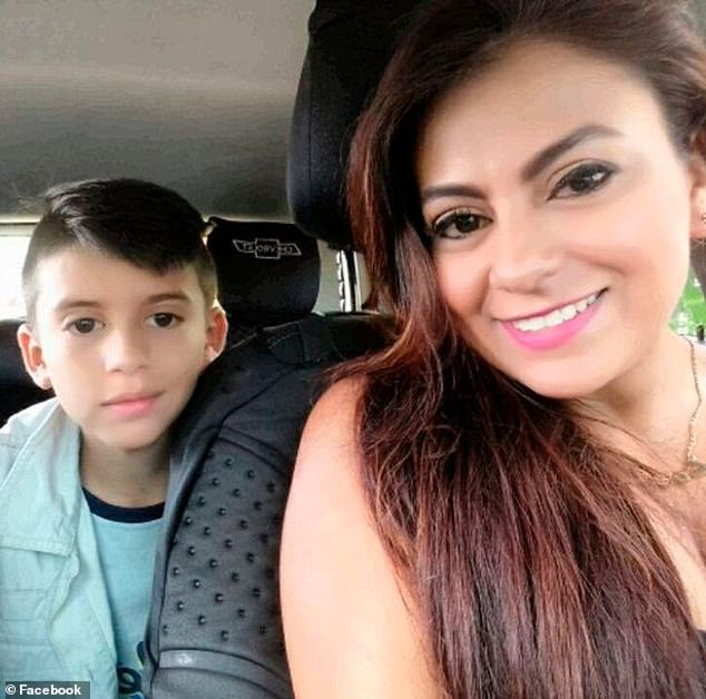 Jessy Paola Moreno Cruz, 32, held her son, May Ceballos, (both pictured above) in her arms before leaping from the La Variante Bridge in Tolima, Colombia this week. The mother had been hounded by debt collectors recently