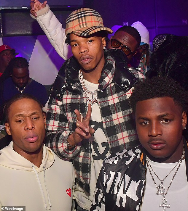 With his mates: Baby (C) at the 2nd Annual No Cap Tuesday at the Gold Room on January 16 in Atlanta