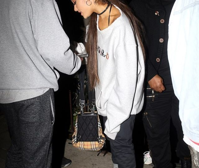 Casual Ariana Grande Shunned The Whispers As She Mixed And Mingled With Fans While Departing