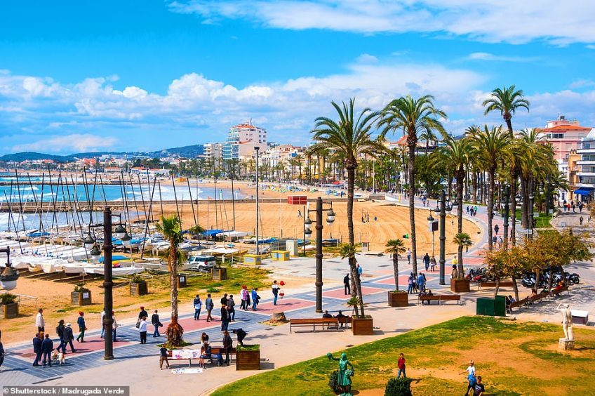 'The pretty town of Sitges (above) may be quiet and dignified for most of the year, but all hell breaks loose for carnival week'