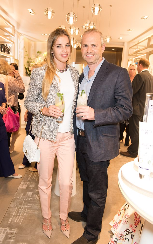 Romance: Ocado boss Tim Steiner, with his new love, the 29-year-old Polish model Patrycja Pyka