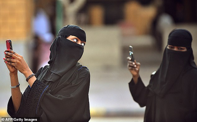 The iTunes and Google Play stores freely host an app called Absher, run by the Saudi government that tracks women and stops them leaving the country