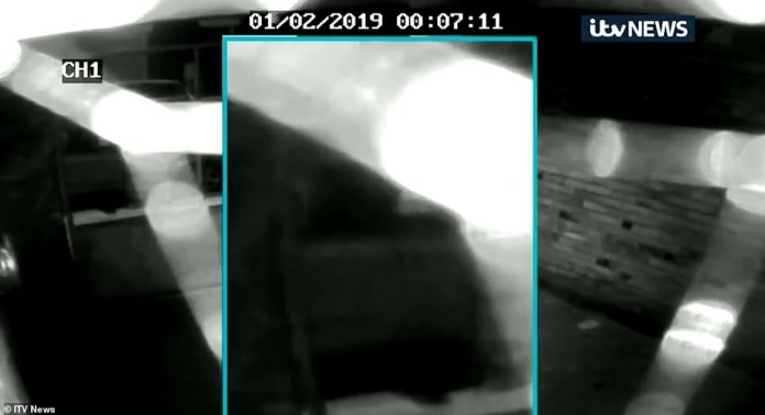 The footage shows how the car drives at 12:07, just minutes after the student was last seen