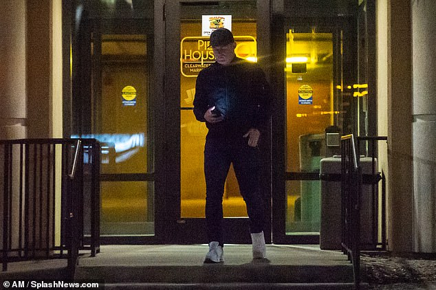 Rooney pictured leaving one of the bars on his eventful night out last weekend in Florida