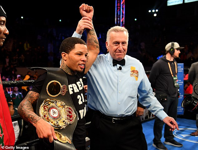 Victory saw Davis take home the WBA super featherweight title as he eyes his next fight in May