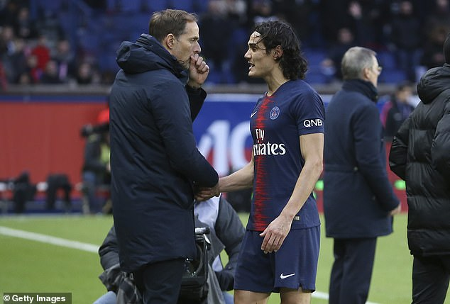 Thomas Tuchel will be without Cavani at Old Trafford after the striker suffered a thigh injury
