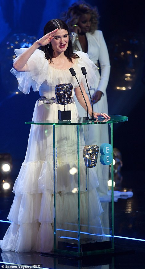 Winner! Rachel Weisz collected the prestigious gong at the 72nd British Academy Film Awards at the Royal Albert Hall on Sunday evening