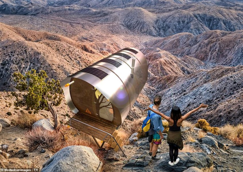 Sussex-based Tree Tents International has released a remarkable flat-pack glamping abode, modelled after a plane's fuselage. The abode - measuring 9.8 feet by 16.4 feet - can be set up almost anywhere, allowing you to glamp in the most challenging terrain from £26,000