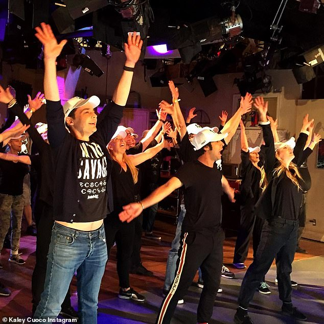 Flashmob: Kaley Cuoco unveils the latest flash mob The Big Bang Theory cast and her crew have played for their live studio audience during an evening on Tuesday night