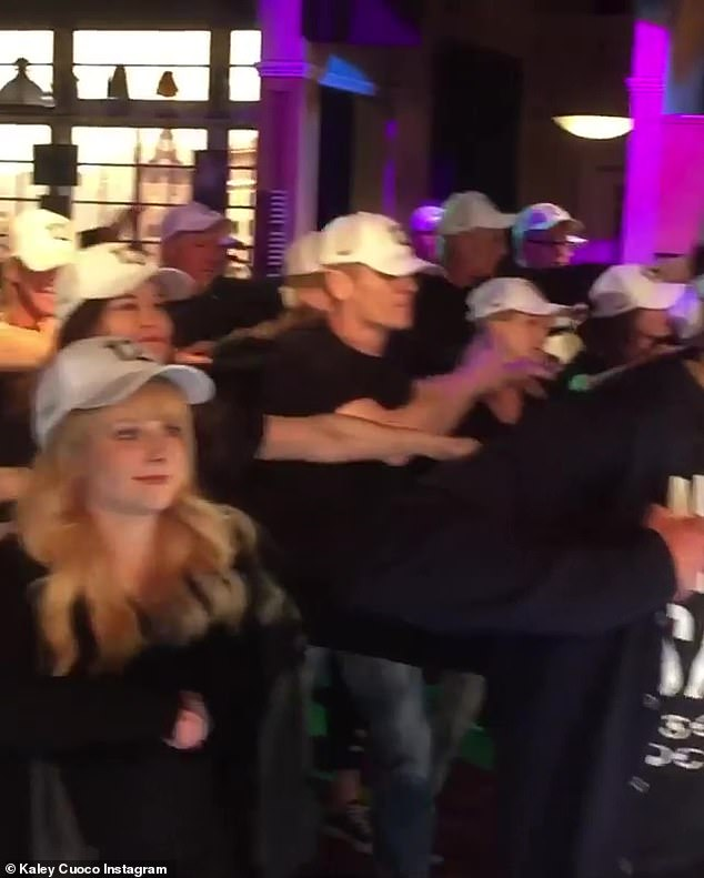 Dance steps: The 33-year-old actress shared yet another video after the flash mob, revealing that a Facetimed series crew member, Chuck Lorre, was able to see the flash mob while on site for another project