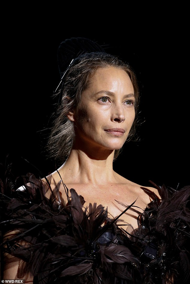Christy returns: Christy Turlington returns to modeling at age 50, 25 years after she retired, closing out the Marc Jacobs fashion show at NYFW