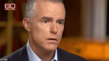 Andrew McCabe, the former deputy director of the FBI, recounted a Justice Department plot to remove Donald Trump from office in a television interview that will air Sunday