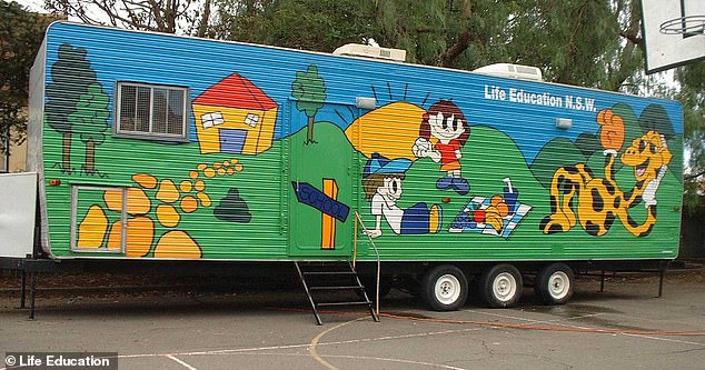 Anyone growing up in Australia will fondly remember the excitement of Healthy Harold visiting their school in a colourful van (pictured in 1990s)