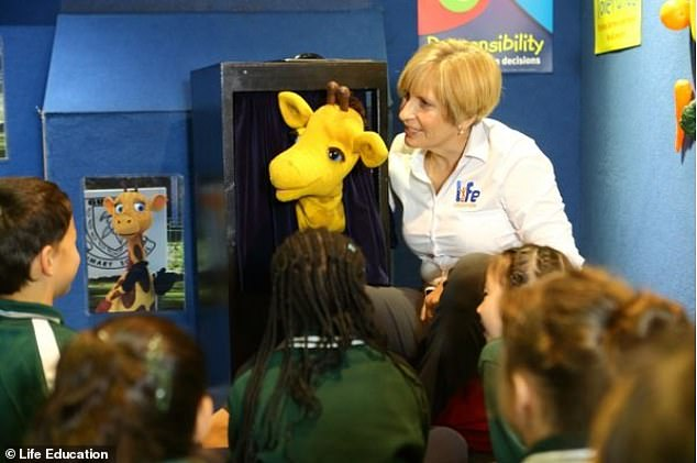 And my, how times have changed! Healthy Harold travels around Australia with an 'educator' to teach children  about issues such as drugs, alcohol and healthy eating (pictured in 2019)