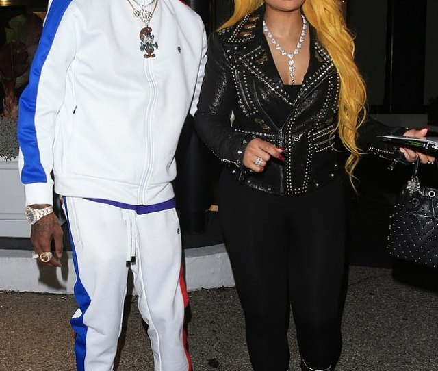 A Blac Chyna And Soulja Boy Were Pictured Getting Very Hands On