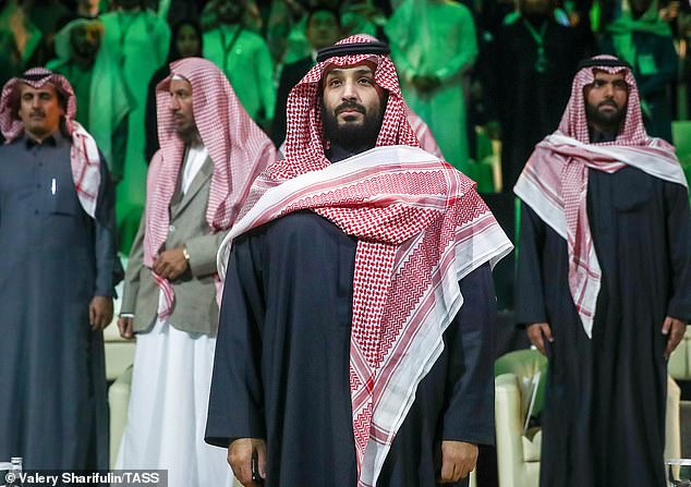 It has been speculated that the Saudi crown prince Mohammed Bin Salman (middle) has ordered the hit of Mr. Khashoggi, but Riyad has acquitted the de facto leader of each debt