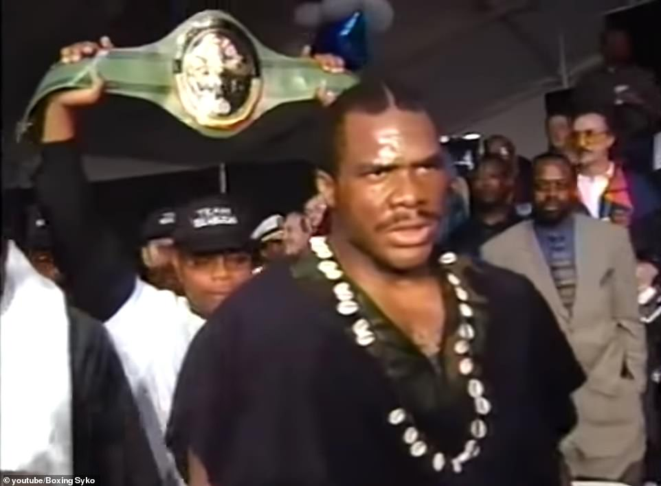 Ibeabuchi was undefeated after 20 fights, winning the WBC International heavyweight title, before he was sent to prison