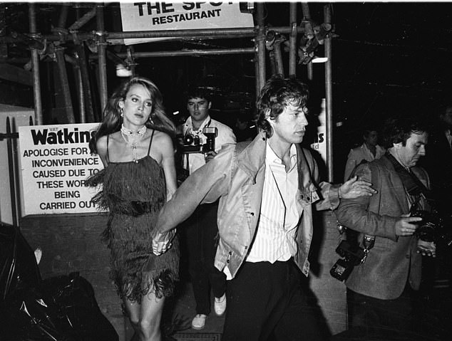 Mick Jagger and Jerry Hall were seen as they left the club together. Tramp is a hideaway for the rich and famous
