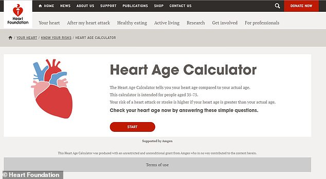 The new heart age calculator is free online test that takes two minutes to complete