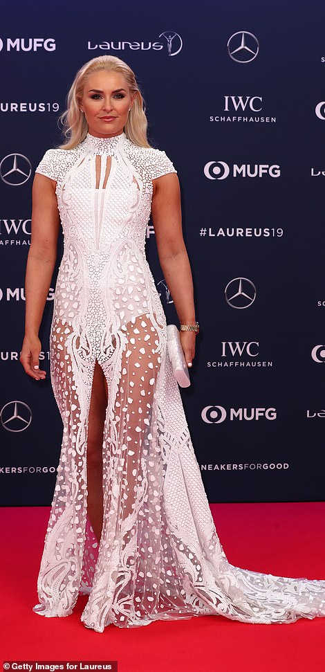 Recently retired American skiier Lindsey Vonn attended the event
