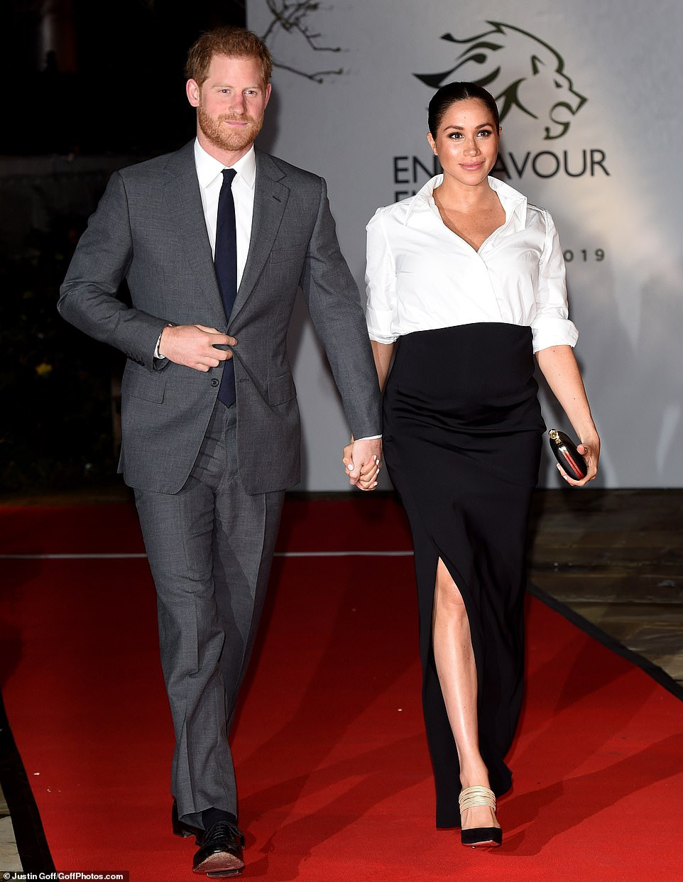 Royal return: The visit marks the first time Meghan has been in the Big Apple since she said 'I do' to Prince Harry in May 2018. The couple is expecting their first child this spring