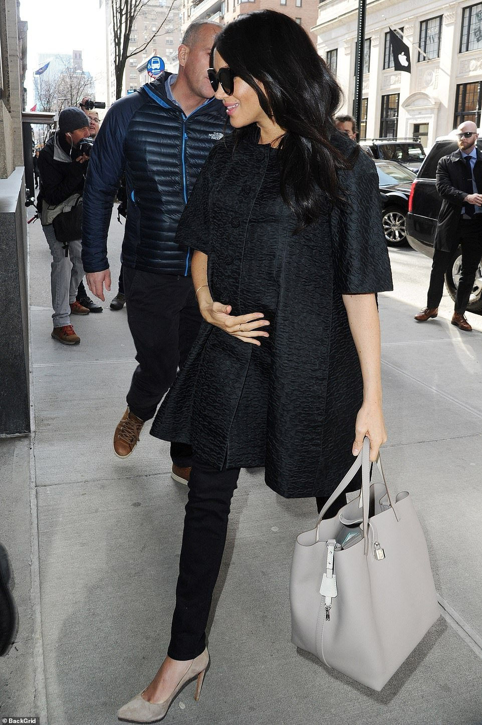 Time for some culture: Earlier in the day, Meghan spent time enjoying the sights and sounds of the Upper East Side, including a trip to the Met Breuer art museum