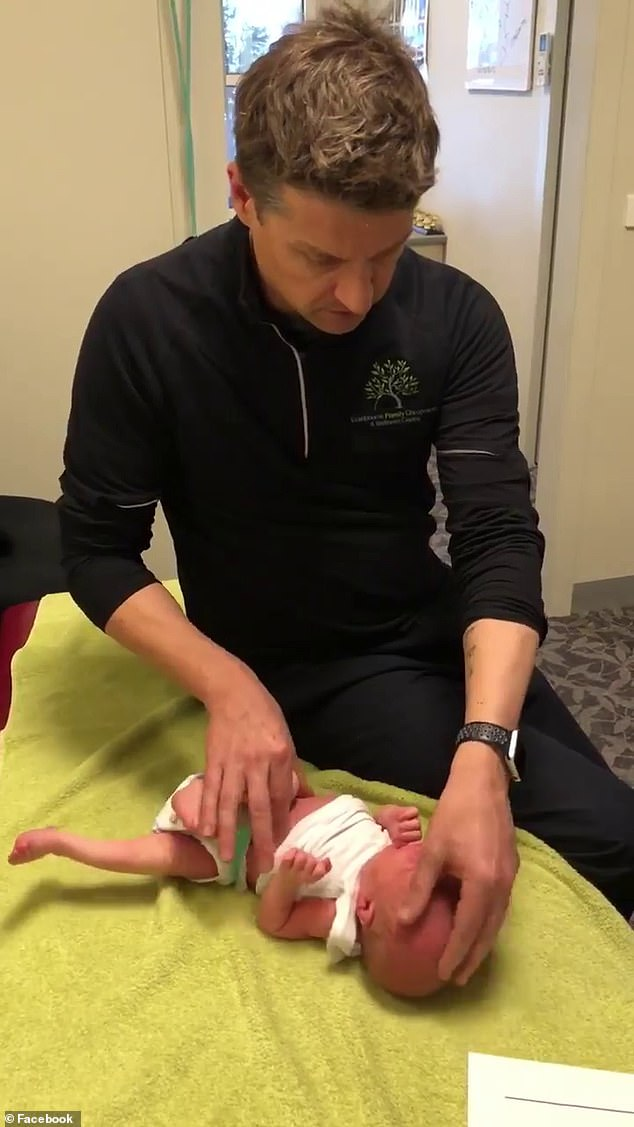A series of tests later examines Dr. Arnold the bones in the baby's head