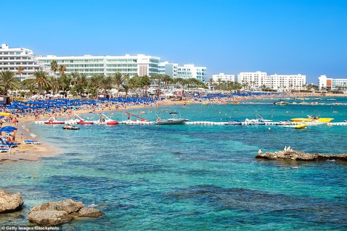 Fig Tree Bay in Cyprus is one of the top ten rated beaches in Europe with its beautiful sands and family-friendly shallow waters. On TripAdvisor, 70 per cent of reviewers have rated it as 'excellent' and the beach is best known for the number of water sports on offer. One of the reviews, left in December 2018, reads: 'What a great little beach this is, lovely white sands and a shallow slope into the water ideal for young children, great local amenities within spitting distance also'