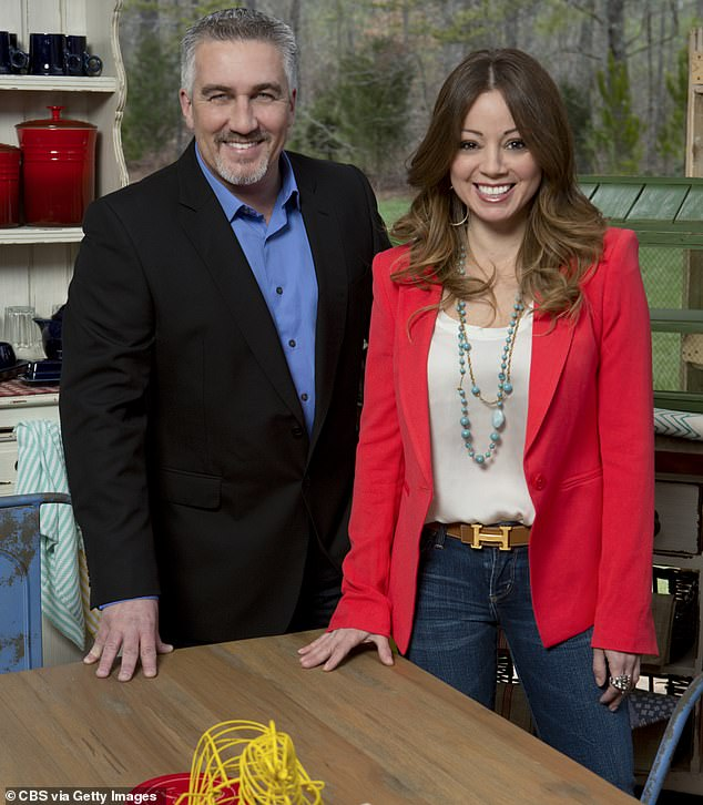 Affair: In 2013, Paul had an affair with Marcela Valladolid, 34, his TV co-star on the US version of Bake Off (pictured on the show in 2013)