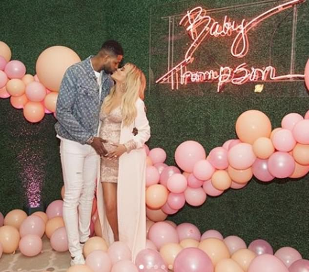 They had it all: Tristan and Khloe looked in love a year ago when she was expecting True