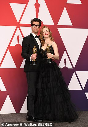 Golden:Guy Nattiv and Jaime Ray Newman accepted Best Live Action Short for Skin