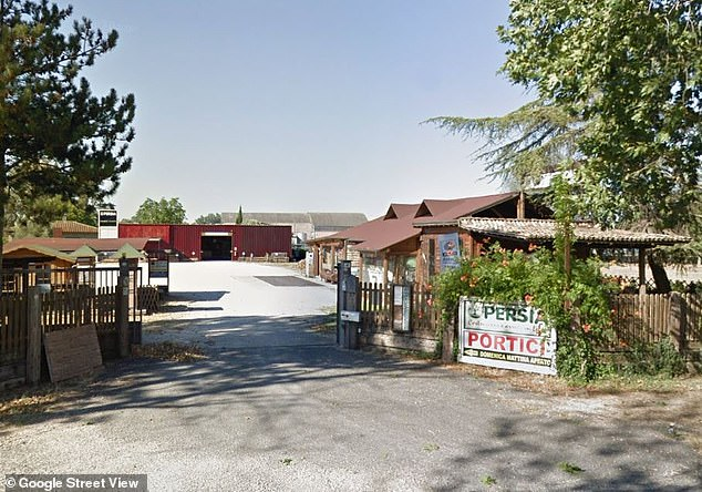 The boy's father is believed to have fallen 18ft off the side of a barn on the family's wood business premises, which led to 'fatal head injuries'