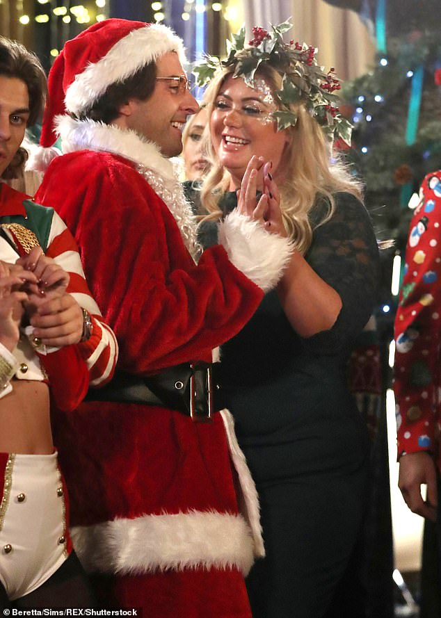 Not going strong: Gemma and Arg's relationship had gone from strength-to-strength since they rekindled their romance last year (pictured in 2017)