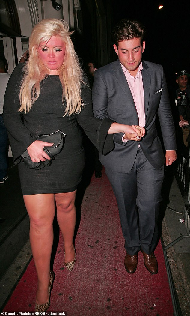 On and off:Gemma and Arg met in 2011 on TOWIE, but only became romantic in 2012 following his split from former co-star Lydia Bright (pictured in 2012)
