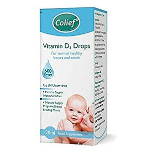 While Colief's Vitamin D3 Drops has just 320IU