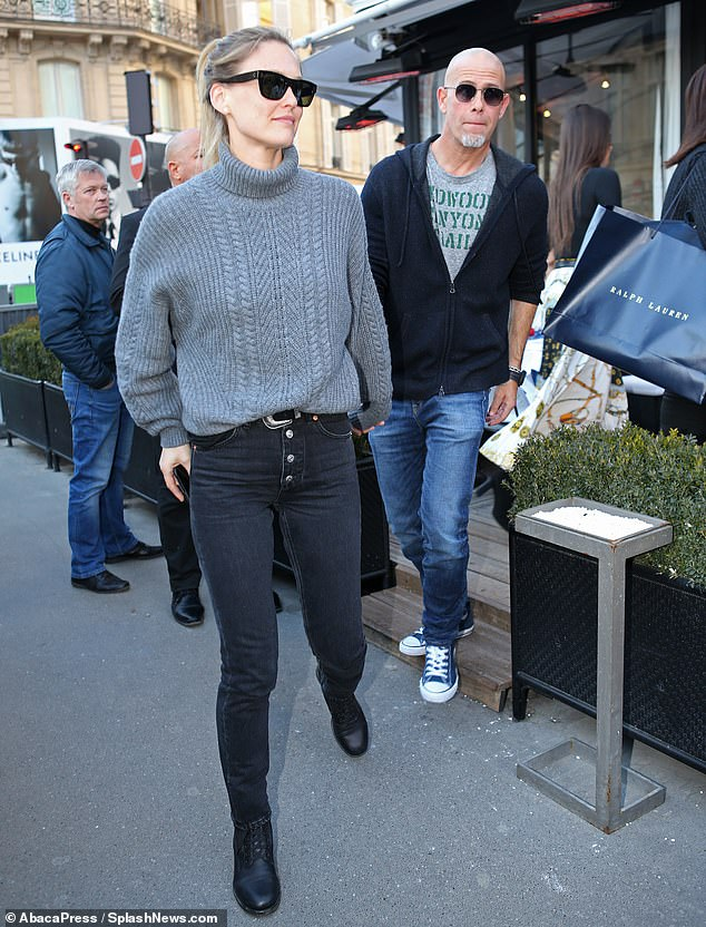 A-list:Along with Karlie, fellow supermodel Bar Refaeli also enjoyed a day out in Paris