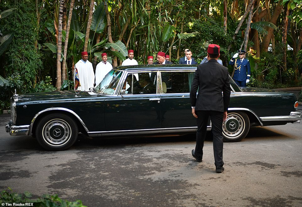 The couple arrived in style at the King's Residence in Rabat tonight. Earlier, the Duke and Duchess heard about youth empowerment in Morocco from a number of young social entrepreneurs living in the capital