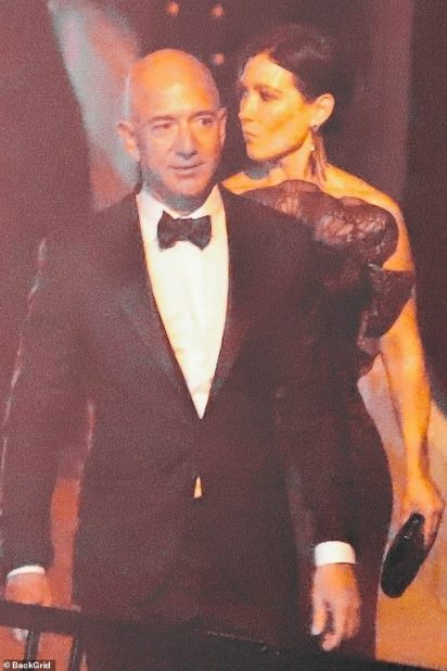 Bezos dodged the red carpet at the Vanity Fair party earlier in the night and entered the party quickly