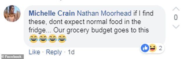 'If I find these, don't expect normal food in the fridge. Our grocery budget goes to this,' one person wrote (pictured)