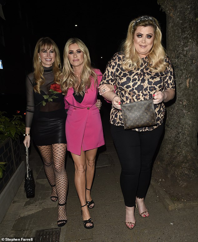 Girls' night: Gemma partied with Real Housewives Of Cheshire stars Dawn Ward and Ester Dee