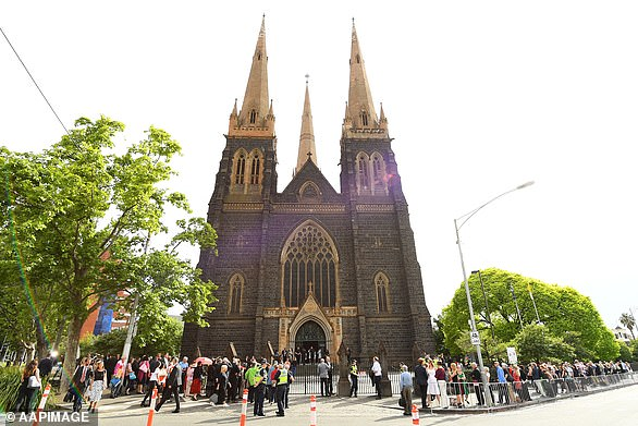 The two boys were molested in 1996 after a mass Pell conducted at St Patrick's Cathedral (pictured) in Melbourne