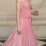 Cara Delevingne in pink for Paris Fashion Week