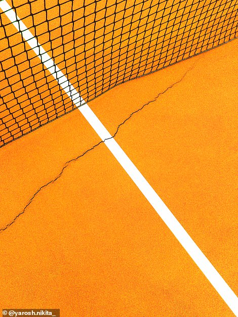 The judges said they liked the 'simplicity' and 'composition' of this tennis court shot byBelarus-based photographerNikita Yarosh