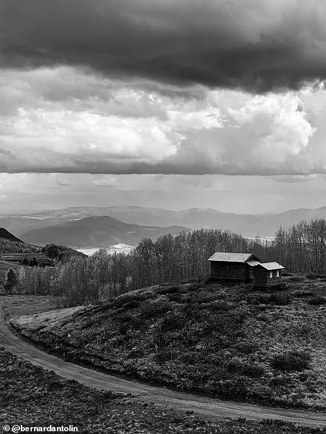 Bernard Antolin from the U.S., used his iPhone XS Max to take this atmospheric black and white shot of Wasatch Mountain State Park in Utah