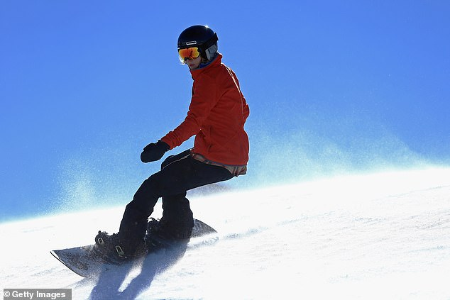 Purdy rides during a training session on December 16, 2013 in Copper Mountain, Colorado