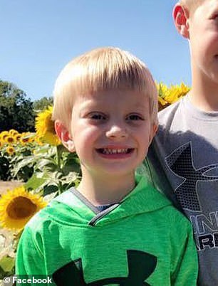 In early December, Brysen Mills, five (pictured), from Paris, Illinois, contracted the flu and then a stomach bug