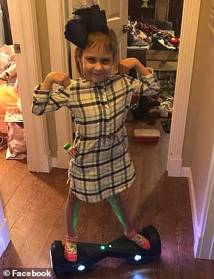 Over time, the tumor affects heartbeat, breathing, swallowing, eyesight and balance. Doctors told Layla's parents that there was no cure. Pictured: Layla