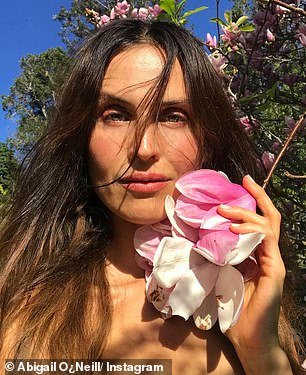 'Rich in antioxidants, minerals, vitamins, good fats and antibacterial properties, my raw cacao face mask is excellent for the skin,' Abigail (pictured) said