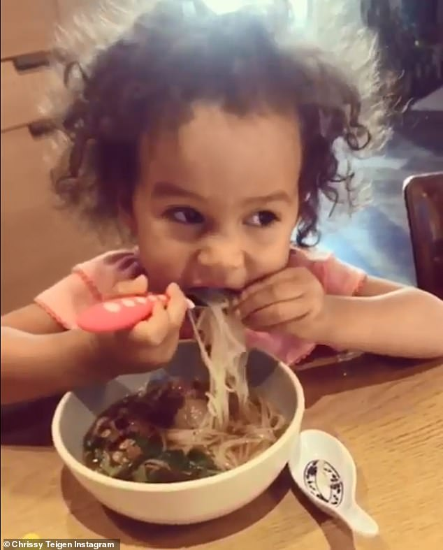 Yum!While Chrissy is building quite the food empire, she's also helping her almost three-year-old daughter Luna create an impeccable palate