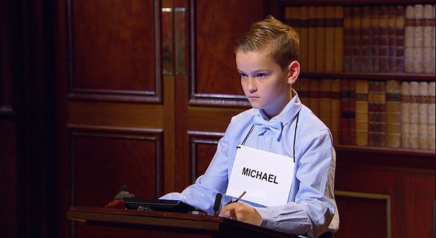 Michael, 11, (seen taking part in the maths round) was able to read by himself by the age of two and received a lifetime membership to Mensa for his incredible IQ of 151